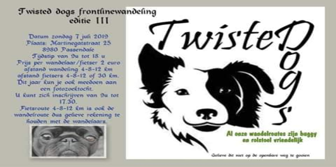Twisted Dogs Frontline Hondenwandeling